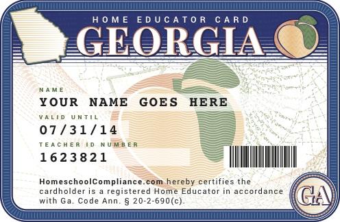 Home School Teacher ID Card